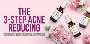 acne-reducing routine